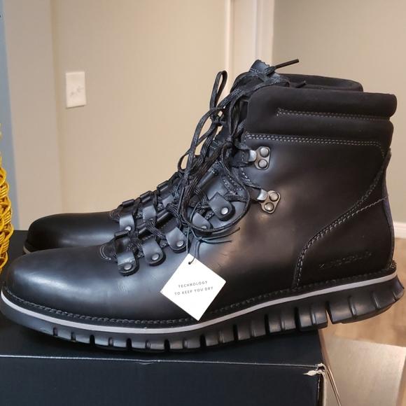 Cole Haan Men Zerogrand Hiker Waterproof Leather Boots